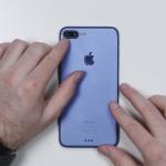 Đây là hình ảnh của iPhone 7 Plus màu xanh mới mẻ.